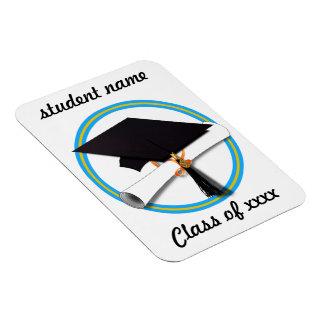 Casquillo w/Diploma del graduado - la escuela Iman De Vinilo