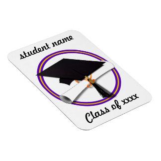 Casquillo w/Diploma del graduado - la escuela Imán Flexible