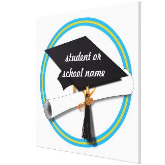 Casquillo w/Diploma del graduado - la escuela Impresión En Tela