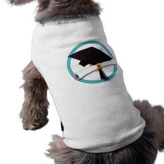 Casquillo w/Diploma del graduado - la escuela Playera Sin Mangas Para Perro