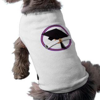 Casquillo w/Diploma del graduado - la escuela Camiseta Sin Mangas Para Perro