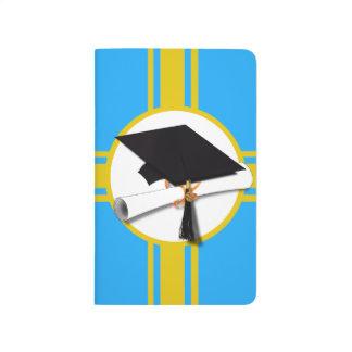 Casquillo w/Diploma - fondo azul claro de la Cuaderno Grapado
