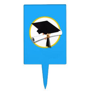 Casquillo w/Diploma - fondo azul claro de la Decoraciones De Tartas