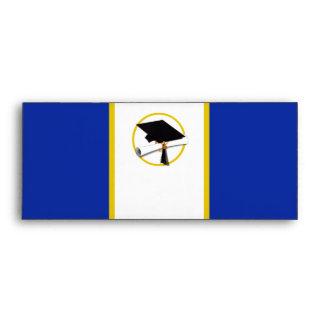 Casquillo w/Diploma - fondo azul marino de la Sobre