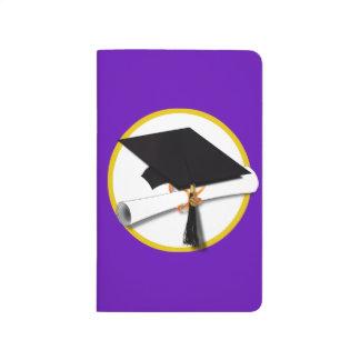Casquillo w/Diploma - fondo púrpura de la Cuaderno Grapado