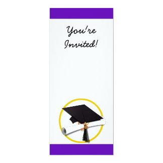 Casquillo w/Diploma - fondo púrpura de la Comunicado Personal