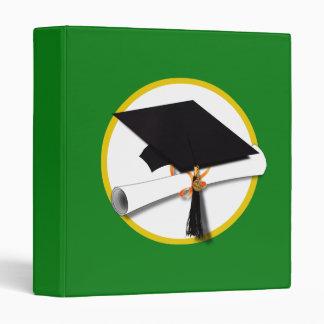 """Casquillo w/Diploma - fondo verde de la graduación Carpeta 1"""""""