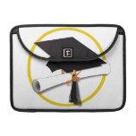 Casquillo y diploma de la graduación (añada el fon fundas macbook pro