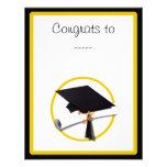 Casquillo y diploma de la graduación anuncio