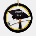 Casquillo y diploma de la graduación adorno de navidad