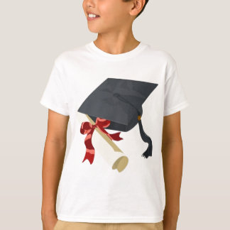 Casquillo y diploma de la graduación playera