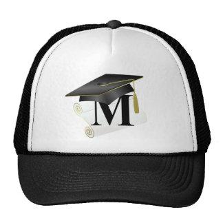 Casquillo y diploma M de la graduación Gorra