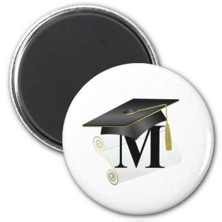Casquillo y diploma M de la graduación Imán Para Frigorifico