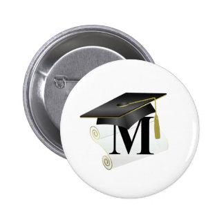 Casquillo y diploma M de la graduación Pins