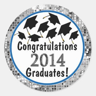 Casquillos 2014 del vuelo de la graduación de la pegatina redonda