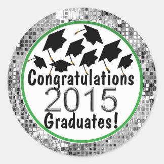 Casquillos 2015 del vuelo de la graduación de la pegatina redonda