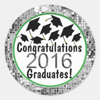 Casquillos 2016 del vuelo de la graduación de la pegatina redonda