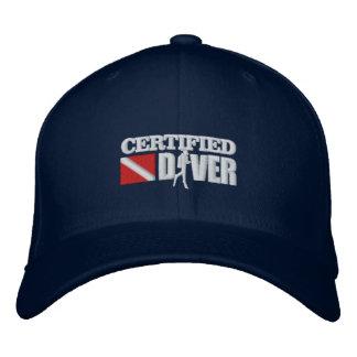 Casquillos bordados certificados del buceador 2 gorros bordados