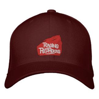 Casquillos bordados rocas rojas que rabian gorra de béisbol
