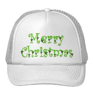 Casquillos cubiertos de las Felices Navidad del ac Gorra