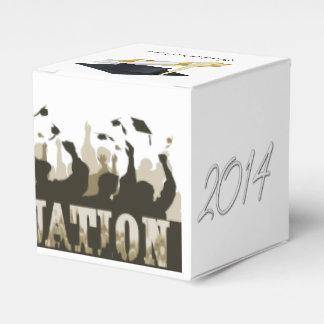 Casquillos de la graduación 2014 caja para regalo de boda