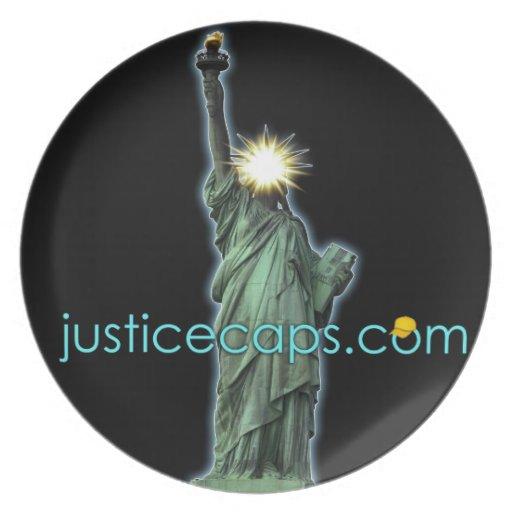 Casquillos de la justicia: Medios de la justicia q Plato De Comida