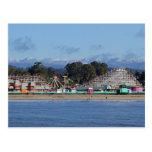 Casquillos de la nieve en la postal de Santa Cruz