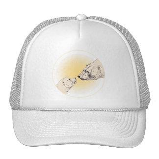 Casquillos del arte del oso polar y del oso de la  gorra