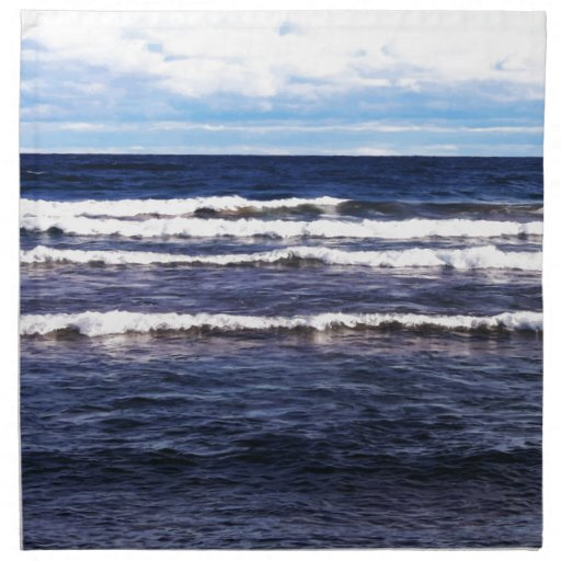 Casquillos del blanco del lago Superior Servilletas Imprimidas