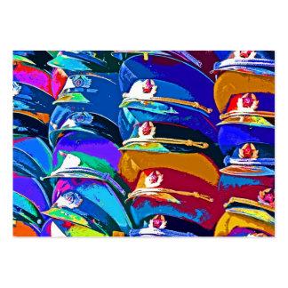 Casquillos gorras enarbolados militares modelo ar tarjetas de visita