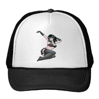 Casquillos modelos del chica del casquillo de los  gorras de camionero