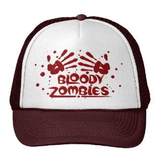 Casquillos sangrientos de los zombis gorros