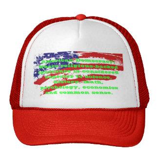 Casquillos sarcásticos de la democracia americana gorras
