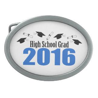 Casquillos y diplomas del graduado 2016 de la High Hebillas Cinturón Ovales