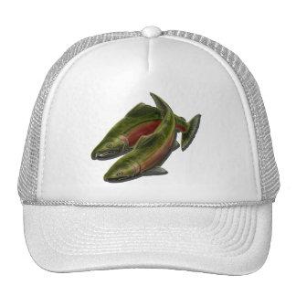 Casquillos y gorras de los pescados de los salmone