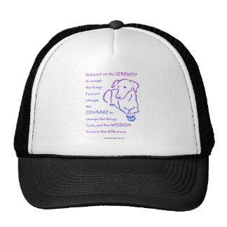 Casquillos y gorras del rezo w/dog de la serenidad