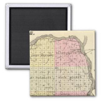 Cass County, Nebraska 2 Inch Square Magnet