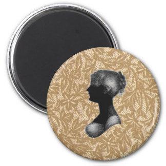 Cassandra Austen in Antique Paper 2 Inch Round Magnet