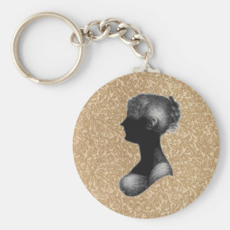 Cassandra Austen in Antique Paper Basic Round Button Keychain