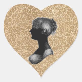 Cassandra Austen in Antique Paper Heart Sticker