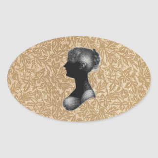 Cassandra Austen in Antique Paper Oval Stickers
