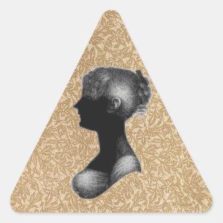 Cassandra Austen in Antique Paper Triangle Sticker