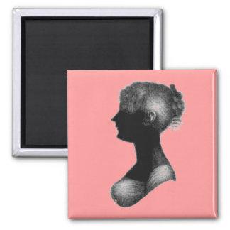 Cassandra Austen's Silhouette 2 Inch Square Magnet