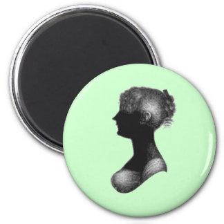 Cassandra Austen's Silhouette Magnet