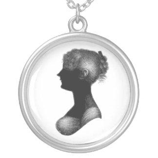 Cassandra Austen's Silhouette Round Pendant Necklace
