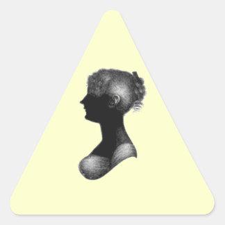 Cassandra Austen's Silhouette Triangle Sticker