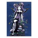 Cassandra Blue Mushroom Fairy Card