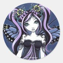 flower, fairy, faerie, faery, fae, fairies, butterfly, myka, jelina, gothic, fantasy, acrylic, Sticker with custom graphic design