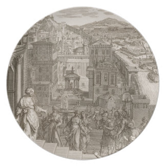 Cassandra Foretells the Trojans Their Fate and is Melamine Plate