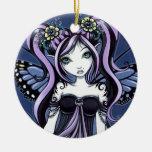 """Cassandra"" Gothic Tattoo Flower Fairy Ornament"